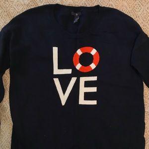 GAP Navy Blue Long Sleeve Graphic Sweater
